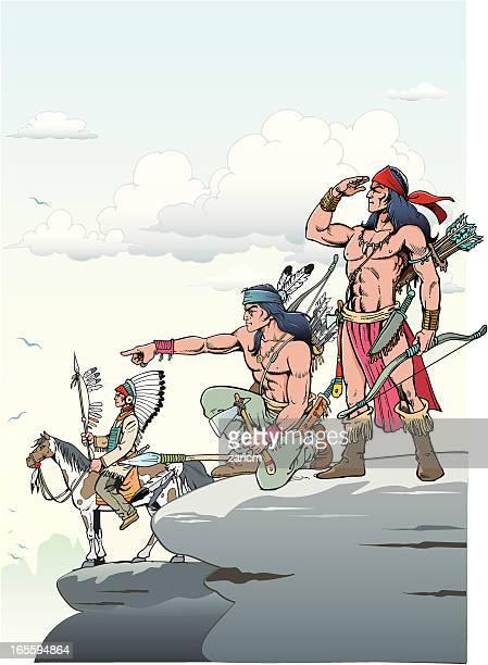 indians - indigenous north american culture stock illustrations, clip art, cartoons, & icons