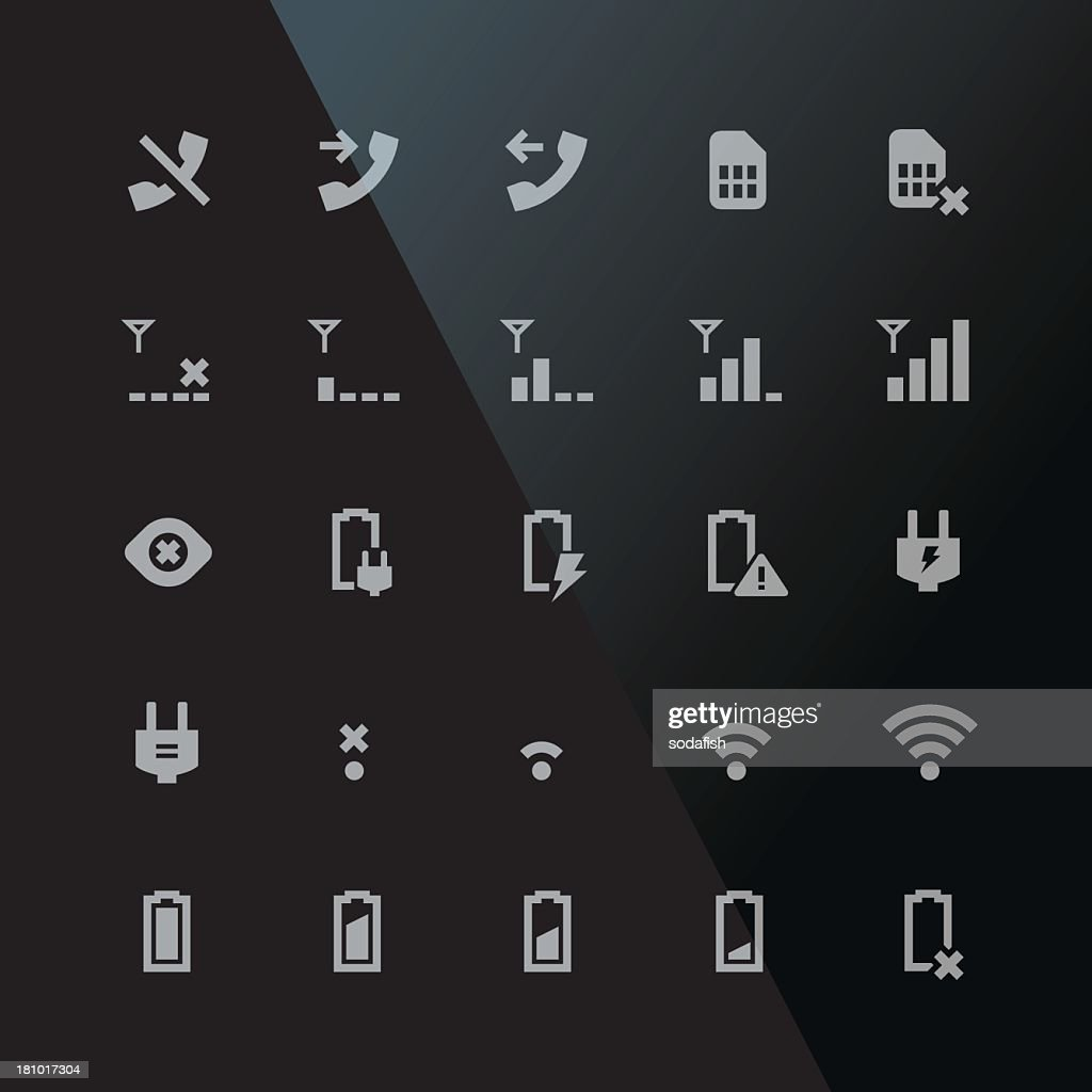 Indicator icons - Retina B series