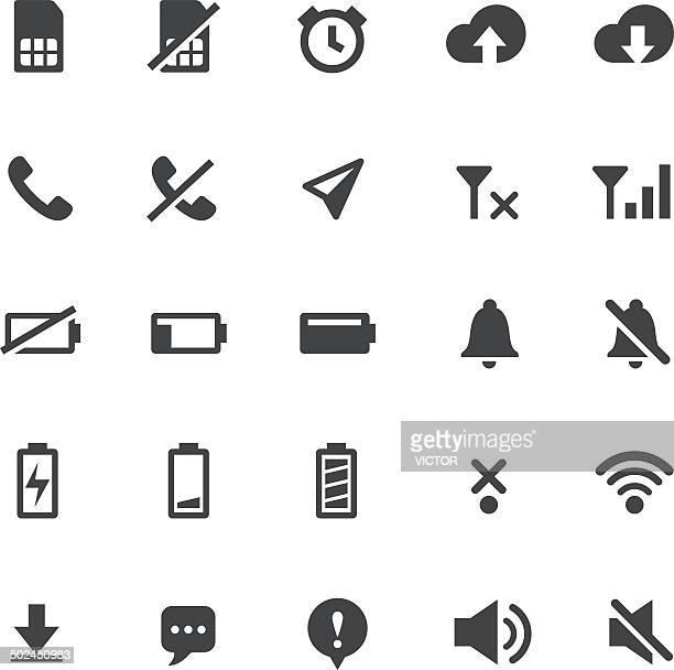 ilustrações, clipart, desenhos animados e ícones de indicador inteligente com ícones-série - silêncio