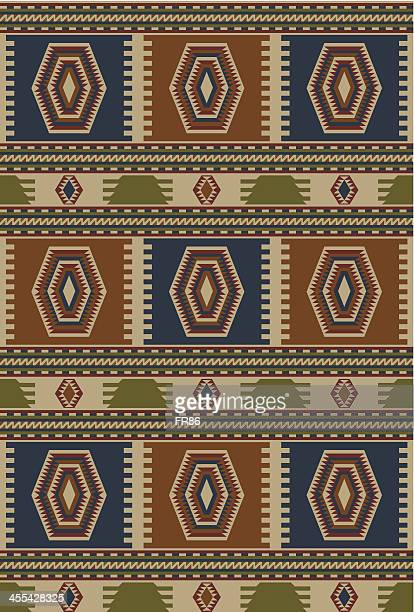 indigenous rug (color) - tapestry stock illustrations