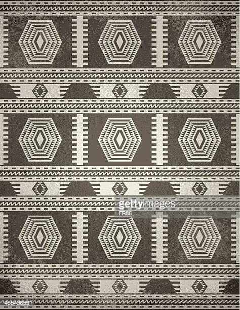 indigenous rug (grunge) - southwest usa stock illustrations