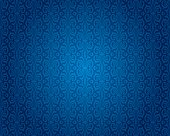 Indigo blue vintage wallpaper background pattern design