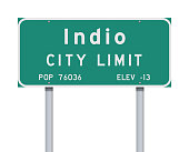 Indio City Limit road sign