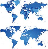 WORLD MAP Individual Countries and Whole