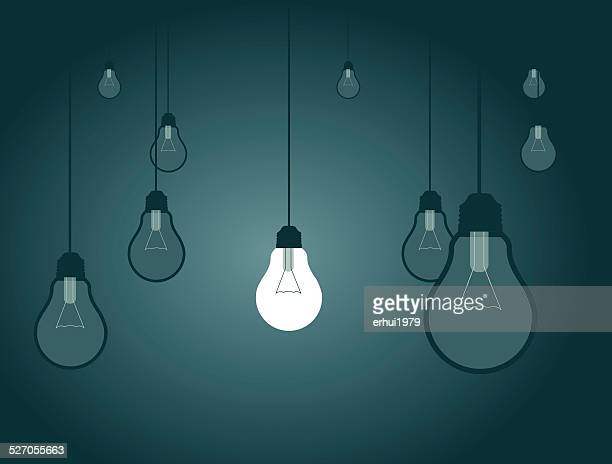 individuality, strategy,solution, light bulb, lamp,target, discovery, choice - downsizing unemployment stock illustrations, clip art, cartoons, & icons