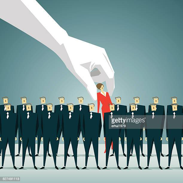 individuality,target, discovery, choice, decisions, competition, human hand - downsizing unemployment stock illustrations, clip art, cartoons, & icons