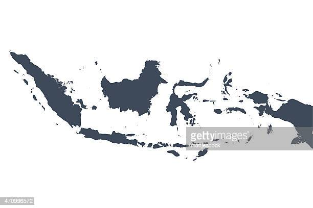 indonesien land karte - indonesien stock-grafiken, -clipart, -cartoons und -symbole