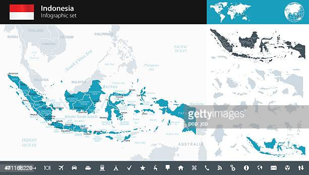 Indonesia - Infographic map - illustration