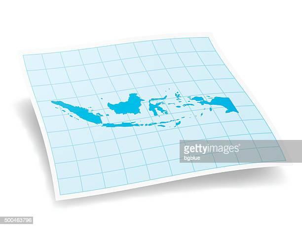 illustrazioni stock, clip art, cartoni animati e icone di tendenza di indonesia mappa isolato su sfondo bianco - indonesia