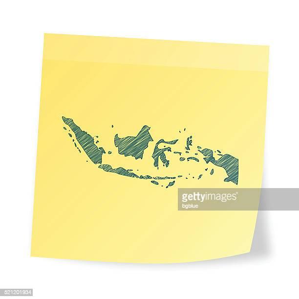 インドネシア 地図 上 粘着性があります。 注、手書き風の効果