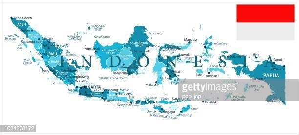 illustrazioni stock, clip art, cartoni animati e icone di tendenza di 31 - indonesia - murena spot isolated 10 - provincia di giava orientale