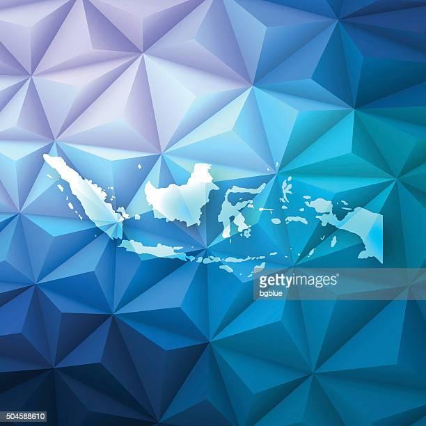 インドネシアの多角形の抽象的な背景-低ポリ、幾何学模様