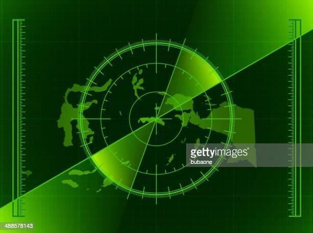 indonesia radar world map royalty free vector art - coordination stock illustrations, clip art, cartoons, & icons