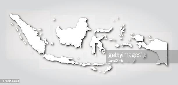 Indonesia Silhouette White