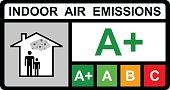 Indoor air emissions vector design