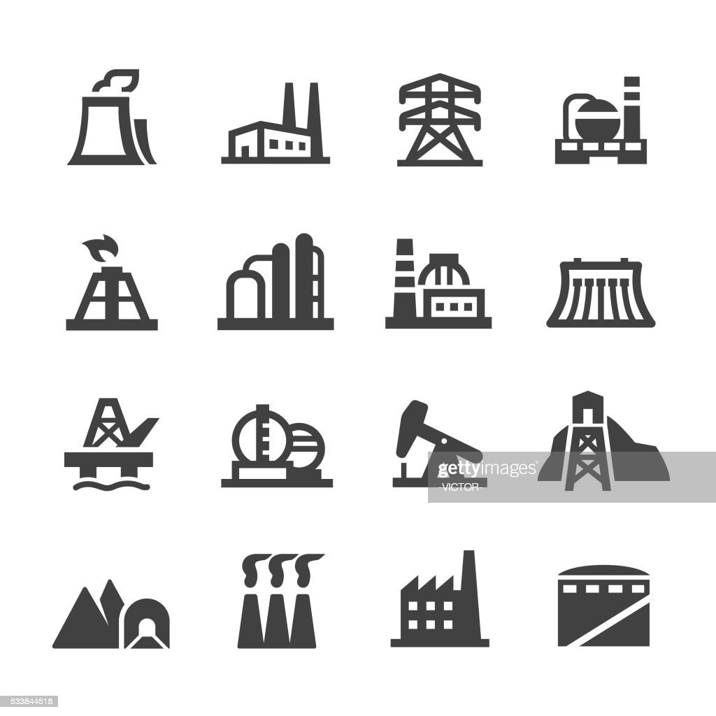 Industrial Building Icons - Acme Series : stock illustration