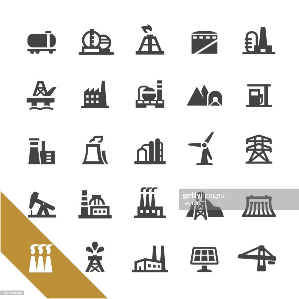 Industrial Buildings Icons - Select Series
