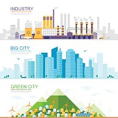 industrial city, modern city, gree city