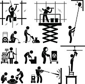 Industrial Cleaning Services Job Pictogram