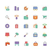 Industrial Colored Vector Icons 10