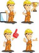 Industrial Construction Worker Customizable Mascot 15
