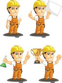 Industrial Construction Worker Customizable Mascot 5