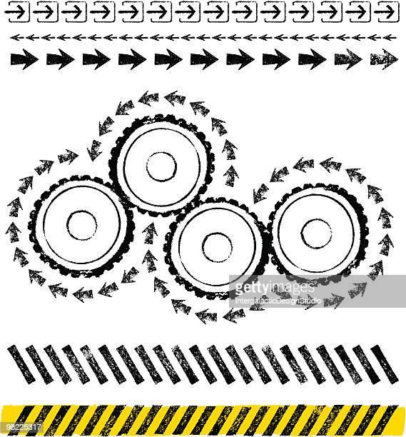 industrial design set - domino effect stock illustrations