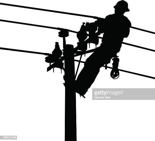 ilustraciones, imágenes clip art, dibujos animados e iconos de stock de electricistas industriales - electricista