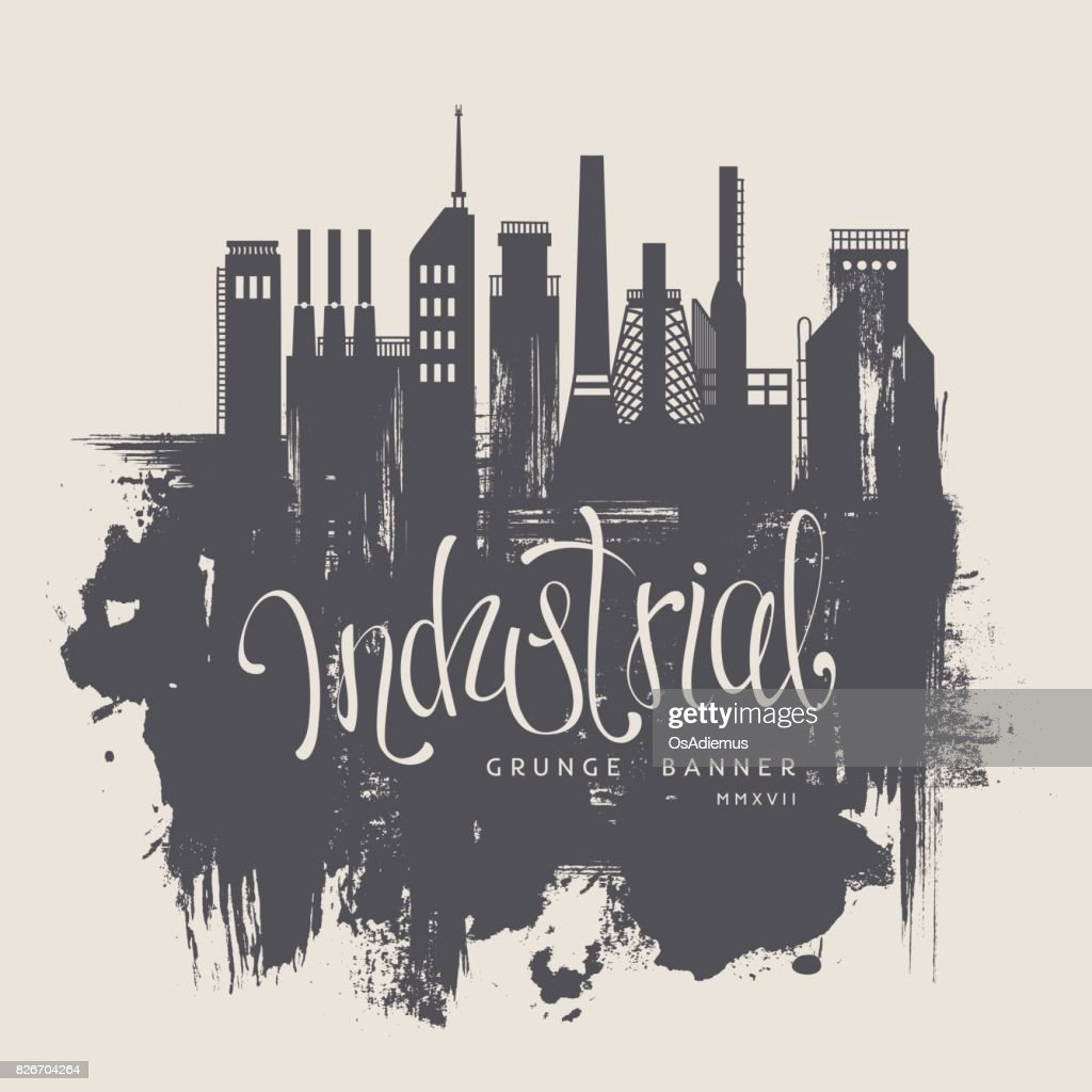 Industrial Factory Grunge Background