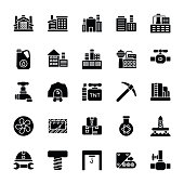 Industrial Glyph Icons Set