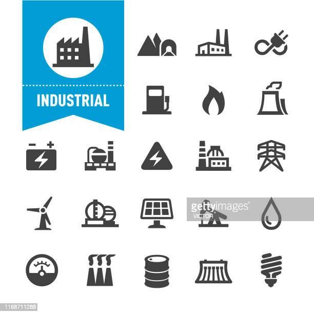 industrie-ikonen - sonderserie - herstellendes gewerbe stock-grafiken, -clipart, -cartoons und -symbole