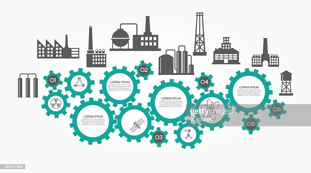 Industrial infographics background