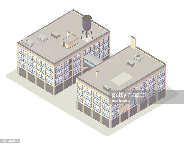 industrial loft buildings illustration - mathisworks stock-grafiken, -clipart, -cartoons und -symbole