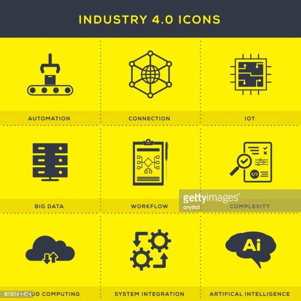 Industry 4.0 Icons Set