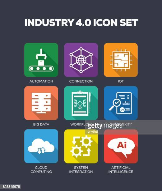Industrie 4.0 Icons Set