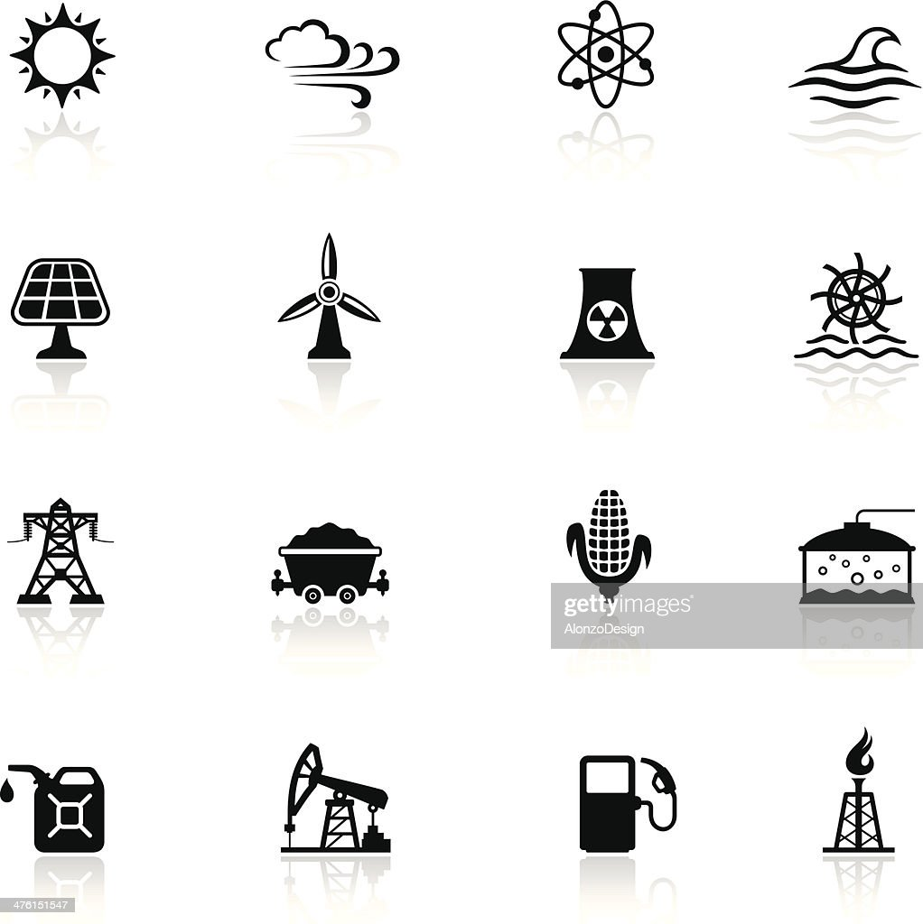 Industry and Energy Sources Icon Set
