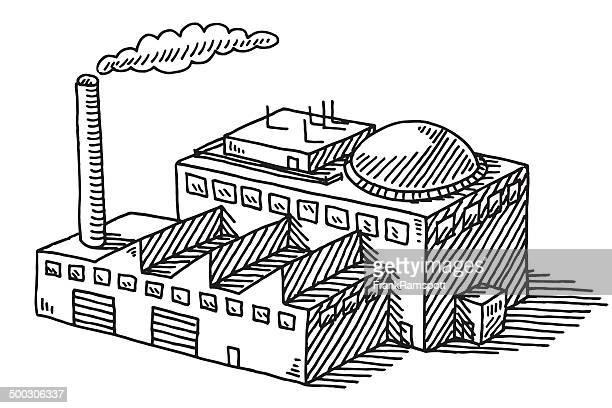 industrie fabrik gebäude zeichnen - frankramspott stock-grafiken, -clipart, -cartoons und -symbole