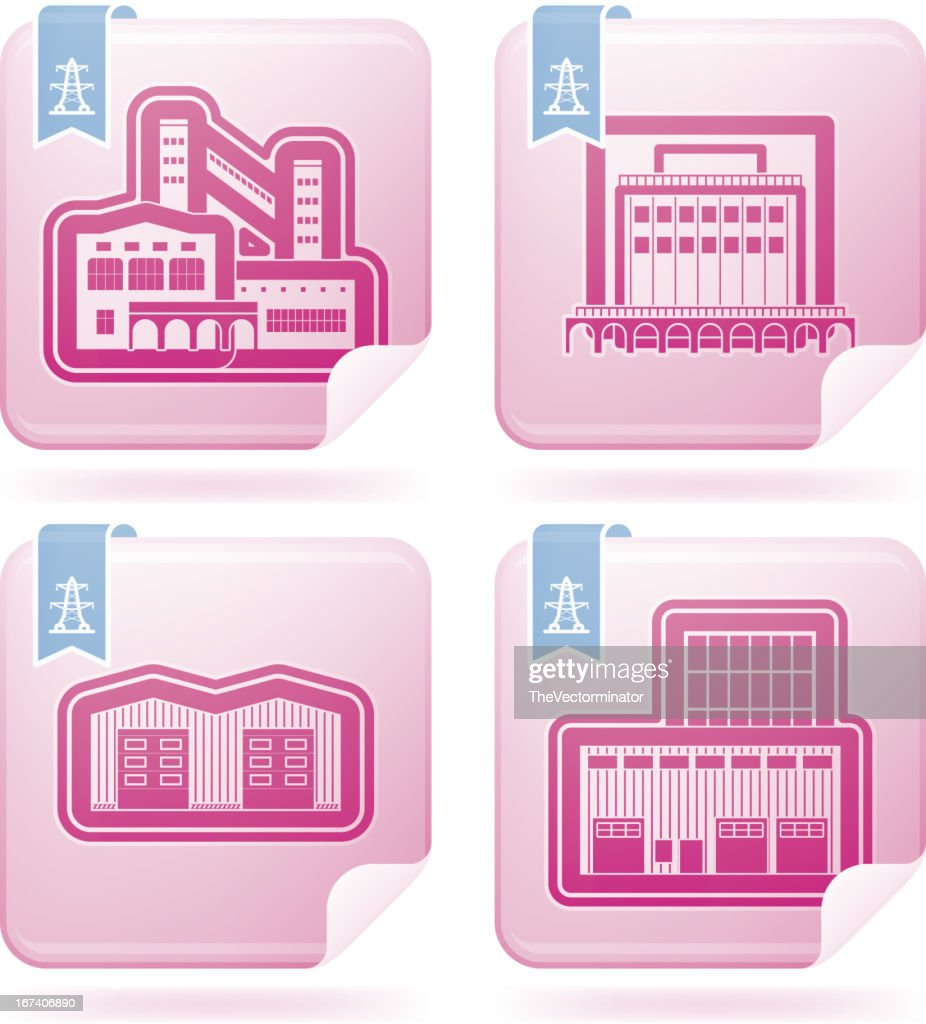 Industry Icons: Factory : Vector Art