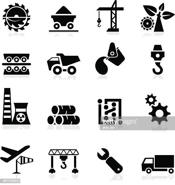 industry icons - illustration - metal industry stock illustrations
