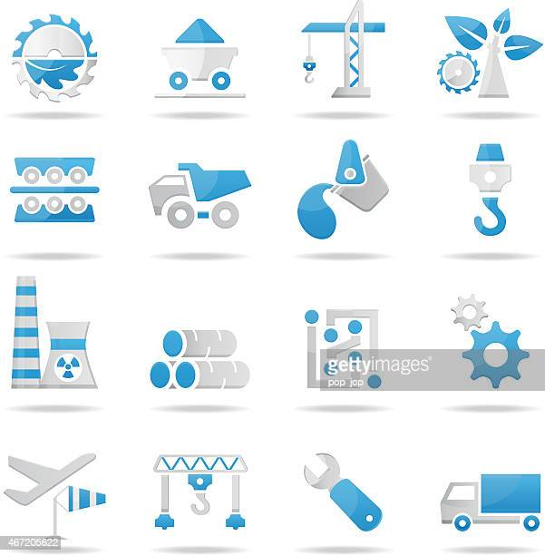 industry icons - illustration - electronics industry stock illustrations, clip art, cartoons, & icons