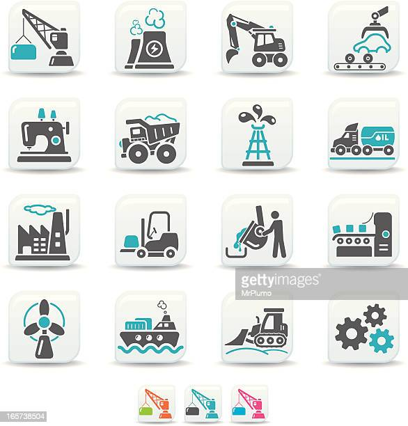industry icons | simicoso collection - metal industry stock illustrations