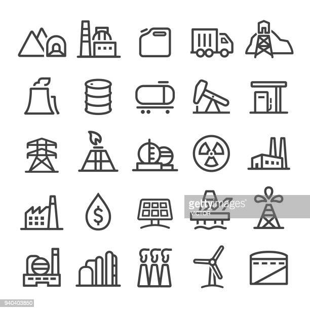 industry icons - smart line series - electricity stock illustrations, clip art, cartoons, & icons