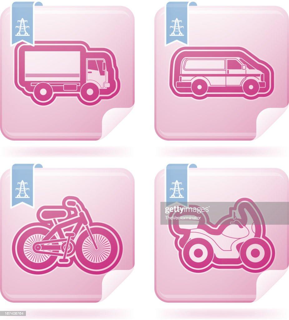 Icônes de l'industrie: Transports en commun : Clipart vectoriel