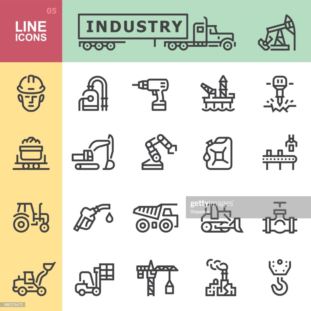 Industry icons : stock illustration