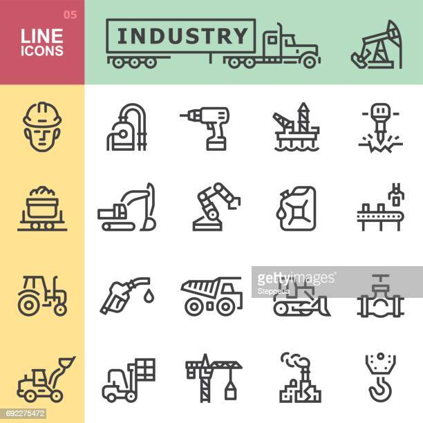 industry icons - oil pump stock illustrations, clip art, cartoons, & icons