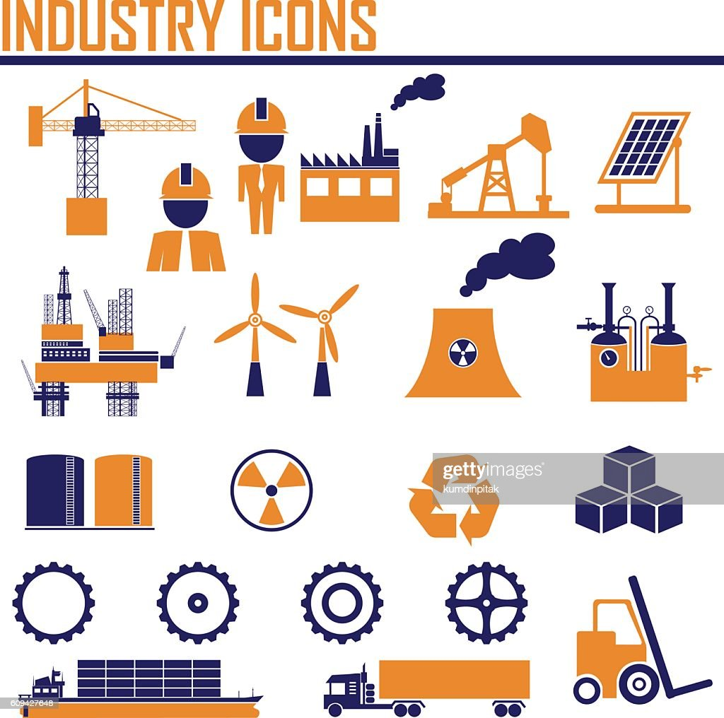 industry icons. vector illustration EPS10