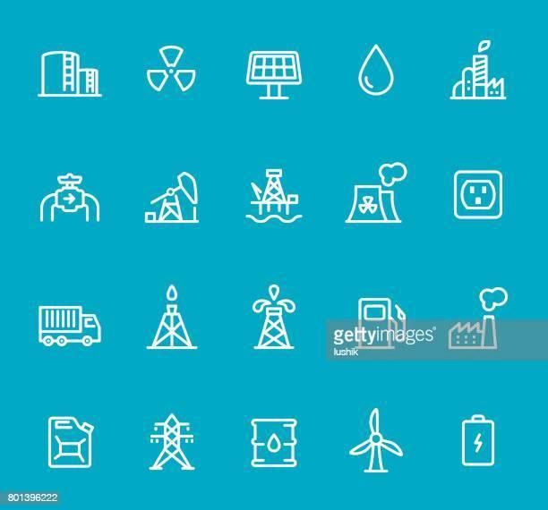 Industry - line icon set