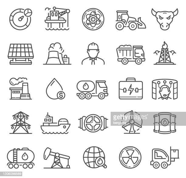 業種のアイコン。原子力、輸送、太陽電池、ビジネスシンボル - 仮想通貨マイニング点のイラスト素材/クリップアート素材/マンガ素材/アイコン素材
