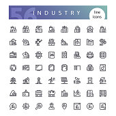 Industry Line Icons Set