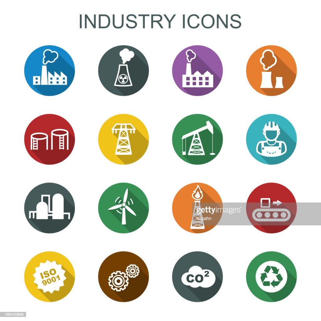 industry long shadow icons
